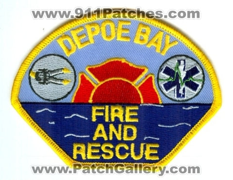 Depoe Bay Fire and Rescue Department Patch Oregon OR