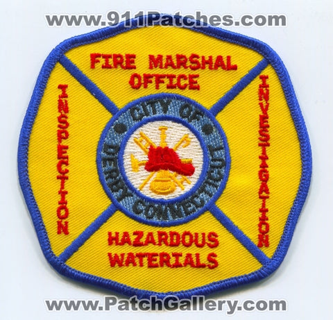 Derby Fire Marshal Office Patch Connecticut CT