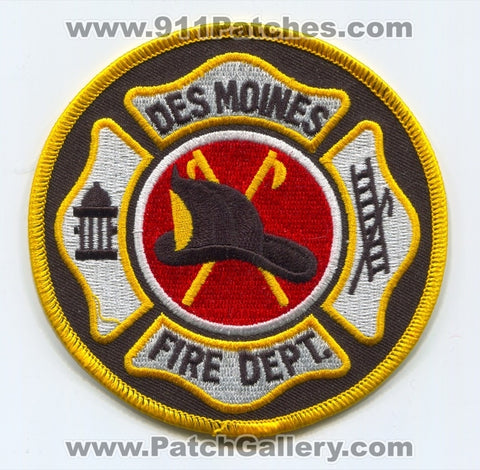 Des Moines Fire Department Patch Iowa IA