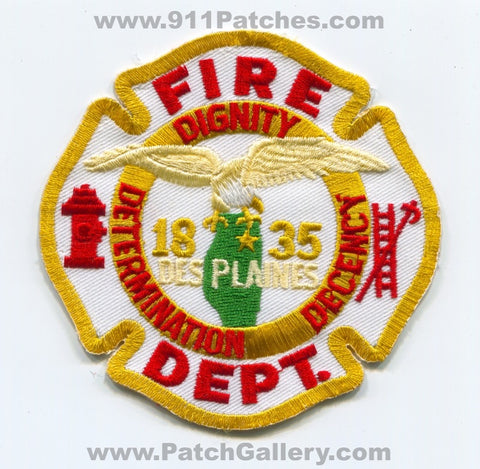 Des Plaines Fire Department Patch Illinois IL