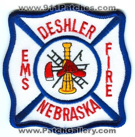 Deshler Fire Department Patch Nebraska NE
