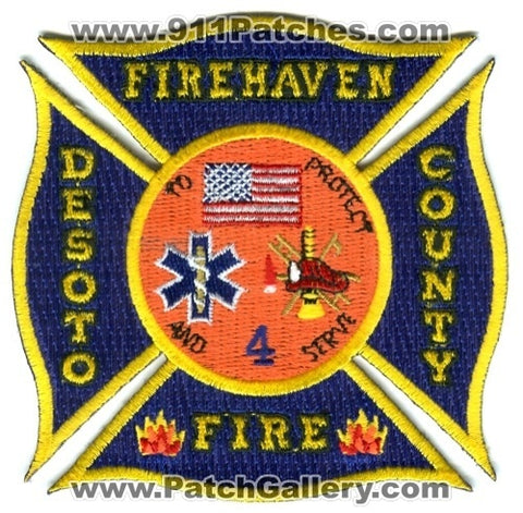 DeSoto County Fire Department 4 Patch Florida FL