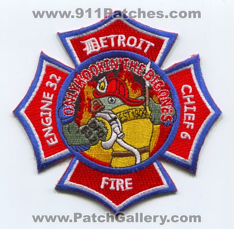 Detroit Fire Department Engine 32 Chief 6 Patch Michigan MI