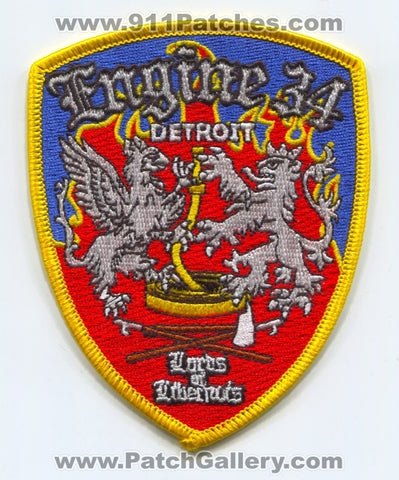 Detroit Fire Department Engine 34 Patch Michigan MI