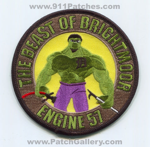 Detroit Fire Department Engine 57 Patch Michigan MI