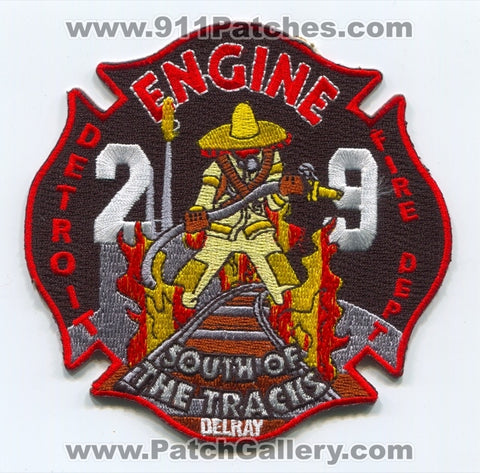 Detroit Fire Department Engine 29 Patch Michigan MI