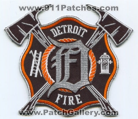 Detroit Fire Department Detroit Tigers Baseball Team Patch Michigan MI