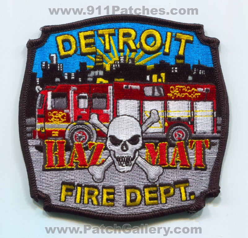 Detroit Fire Department HazMat Patch Michigan MI