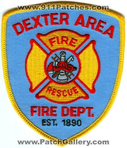 Dexter Area Fire Rescue Department Patch Michigan MI