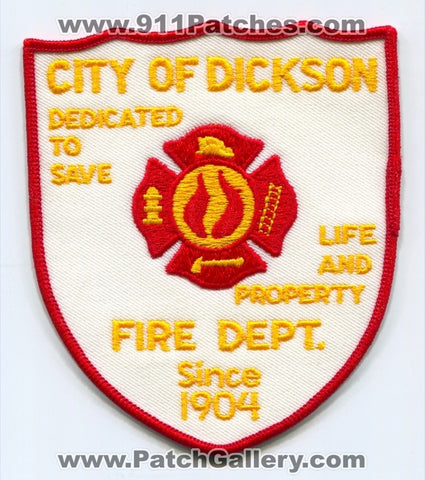 Dickson Fire Department Patch Tennessee TN