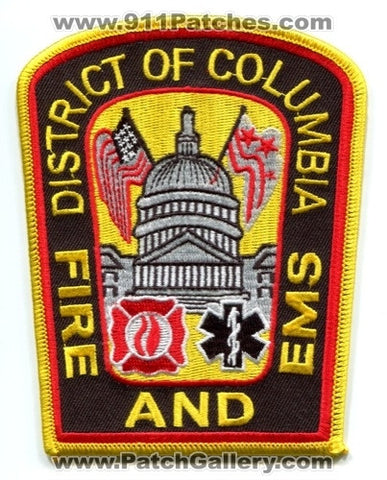District of Columbia Fire and EMS Department DCFD Patch Washington DC