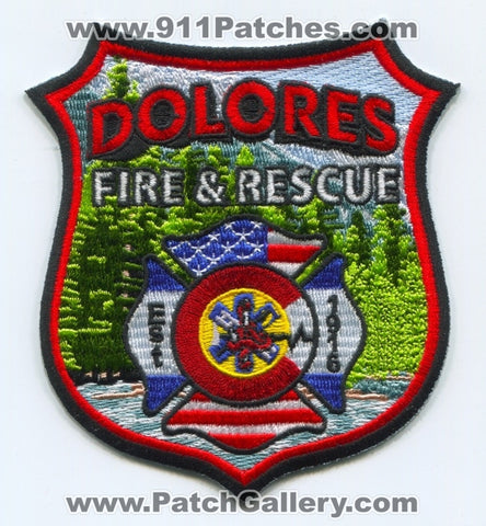 Dolores Fire and Rescue Department Patch Colorado CO