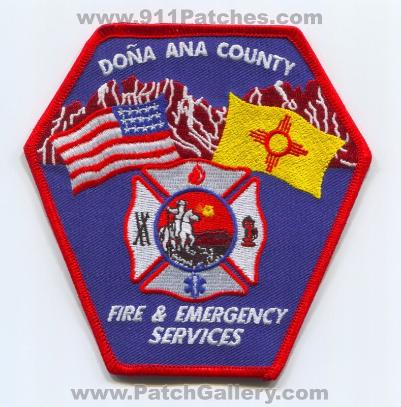 Dona Ana County Fire and Emergency Services Patch New Mexico NM