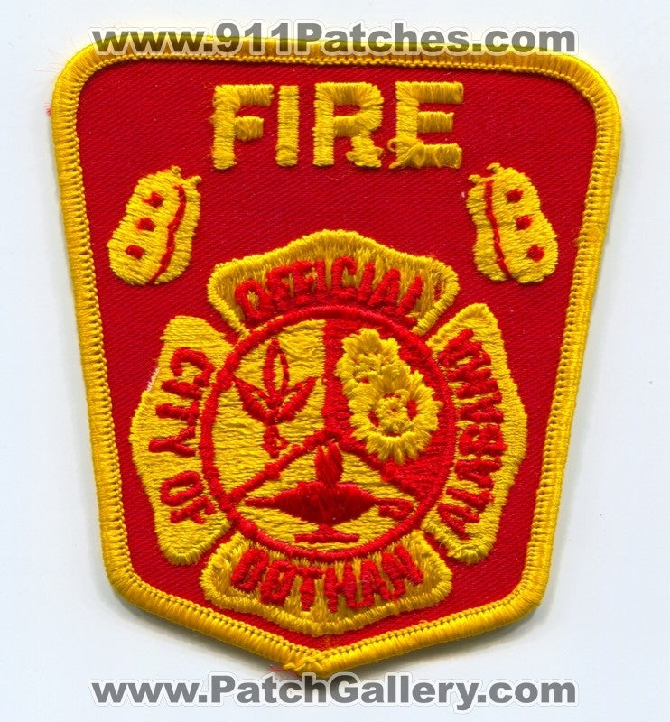 Dothan Fire Department Official Patch Alabama AL