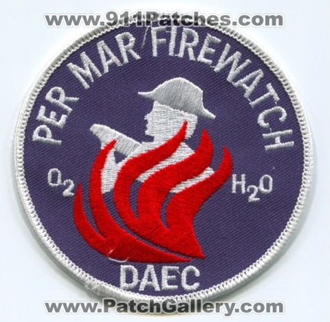 Duane Arnold Energy Center DAEC Per Mar Firewatch Fire Department Patch Iowa IA