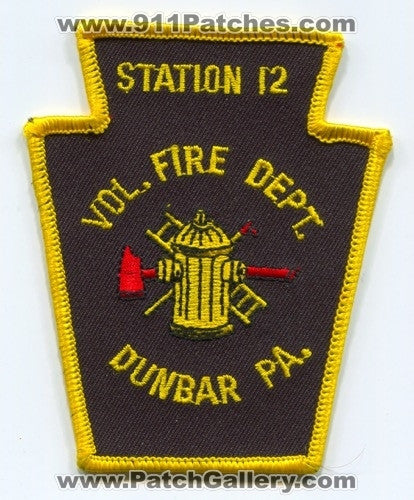 Dunbar Volunteer Fire Department Station 12 Patch Pennsylvania PA