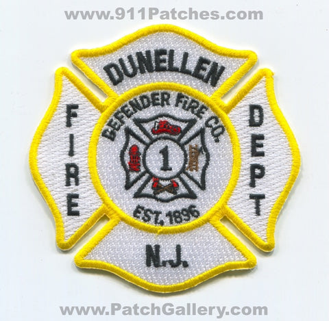 Dunellen Fire Department Defender Fire Company 1 Patch New Jersey NJ