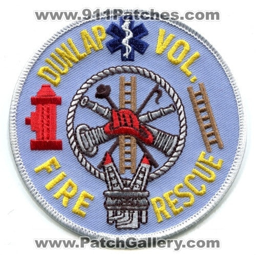 Dunlap Volunteer Fire Rescue Department Patch Unknown State
