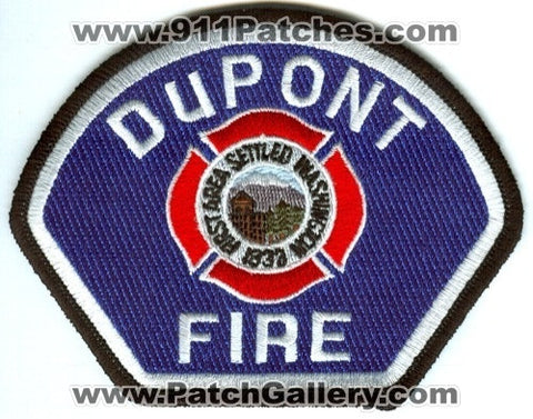 Dupont Fire Department Patch Washington WA v2