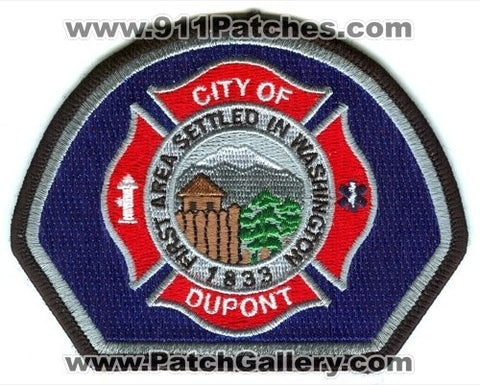 Dupont Fire Department Patch Washington WA