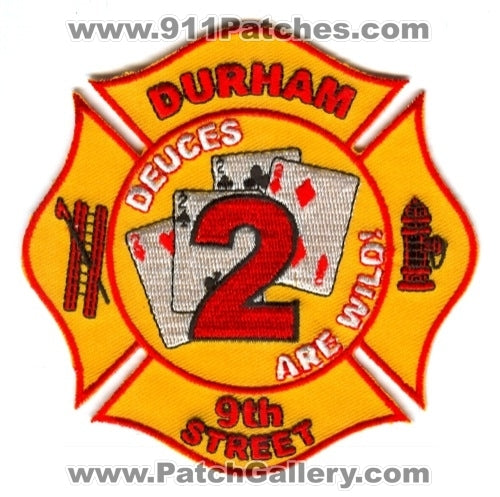 Durham Fire Department Engine 2 Patch North Carolina NC