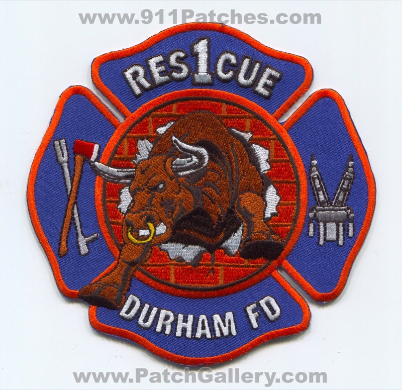 Durham Fire Department Rescue 1 Patch North Carolina NC