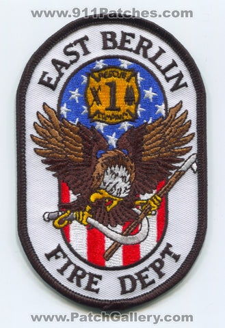 East Berlin Fire Department Rescue Company 1 Patch Connecticut CT