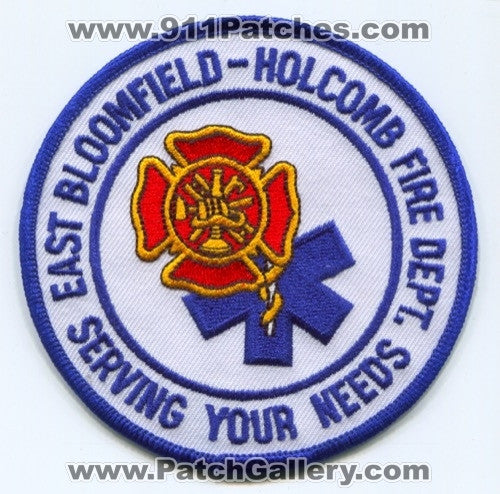 East Bloomfield Holcomb Fire Department Patch New York NY