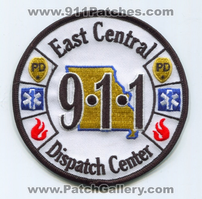 East Central 911 Dispatch Center Fire EMS Police Department Patch Missouri MO