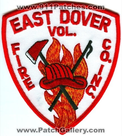 East Dover Volunteer Fire Company Inc Patch Vermont VT