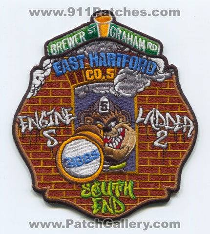 East Hartford Fire Department Engine 5 Ladder 2 Patch Connecticut CT
