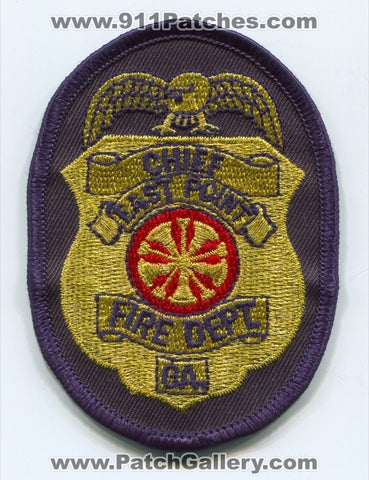 East Point Fire Department Chief Patch Georgia GA