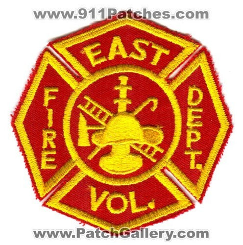 East Volunteer Fire Department Patch Unknown State