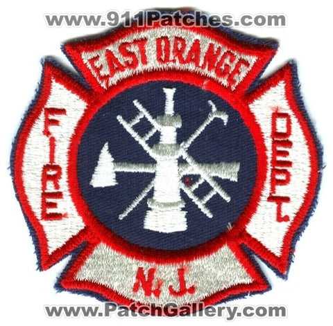 East Orange Fire Department Patch New Jersey NJ