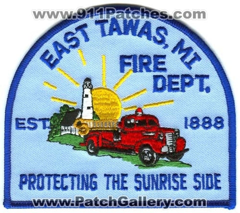 East Tawas Fire Department Patch Michigan MI