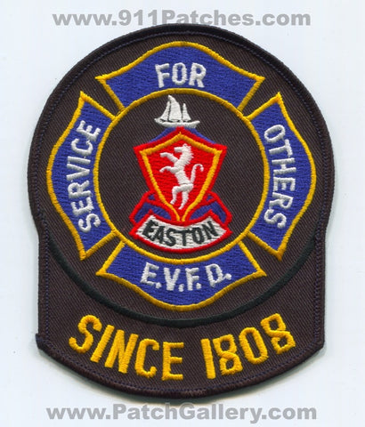 Easton Volunteer Fire Department Patch Maryland MD