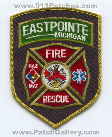 Eastpointe Fire Rescue Department Patch Michigan MI