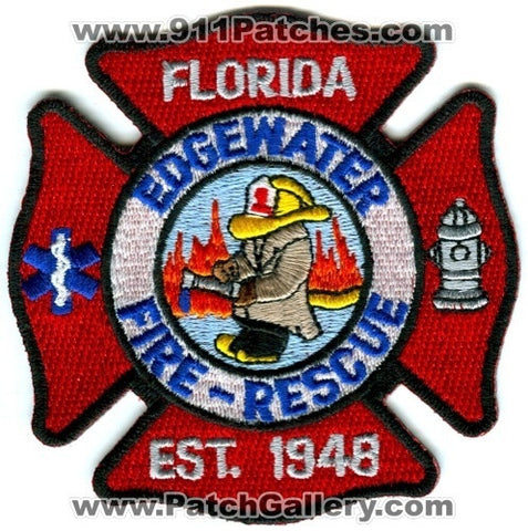 Edgewater Fire Rescue Department Patch Florida FL