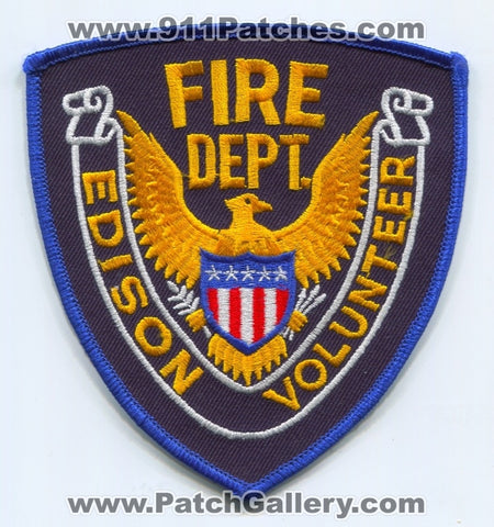 Edison Volunteer Fire Department Patch Unknown State