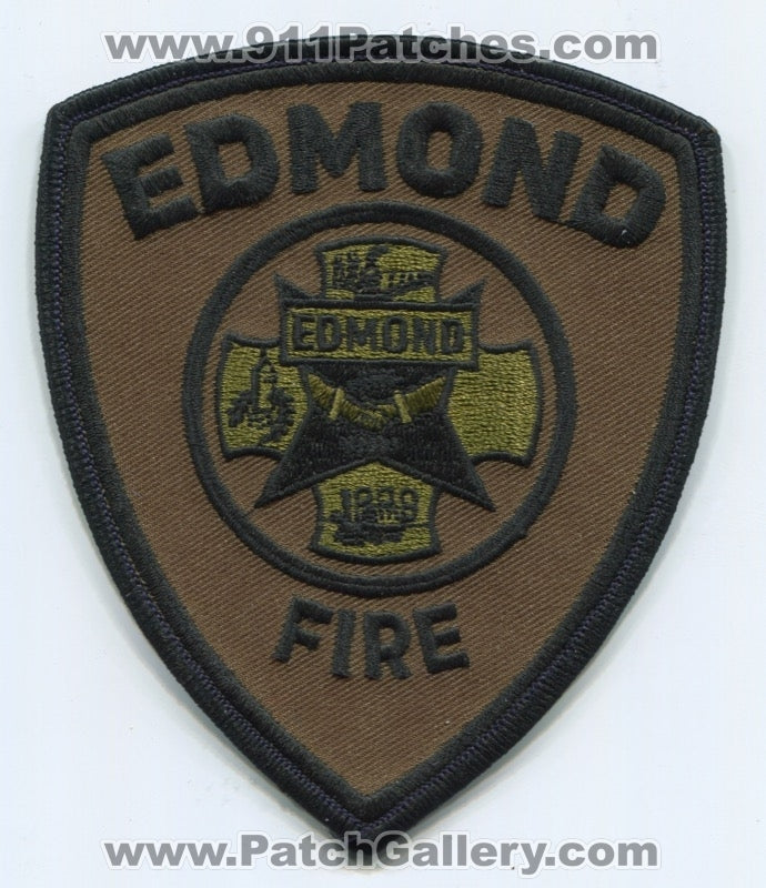 Edmond Fire Department Patch Oklahoma OK