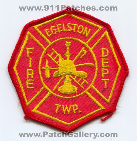 Egelston Township Fire Department Patch Michigan MI