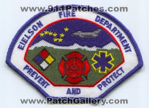 Eielson Air Force Base AFB Fire Department USAF Military Patch Alaska AK