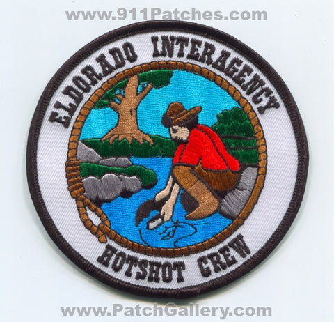 Eldorado Interagency HotShot Crew Forest Fire Wildfire Wildland Patch California CA
