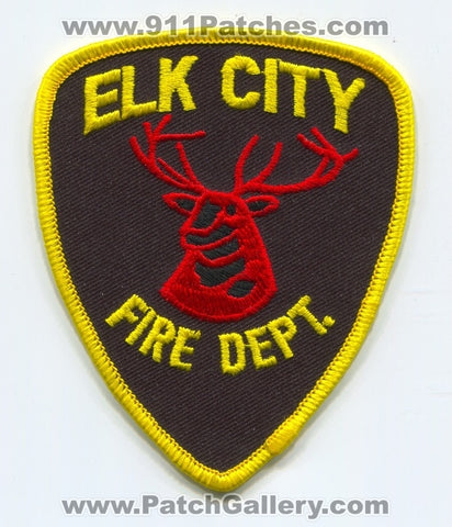 Elk City Fire Department Patch Oklahoma OK