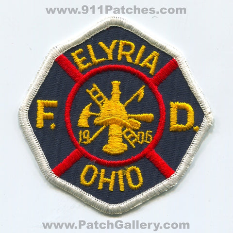 Elyria Fire Department Patch Ohio OH