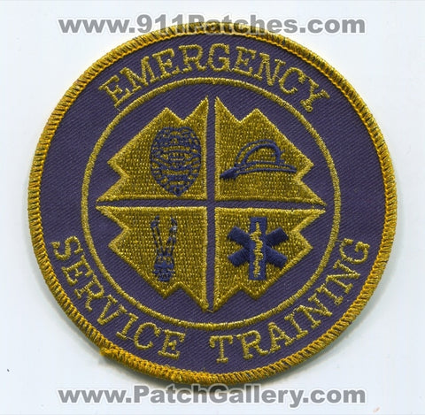Emergency Service Training Fire EMS Rescue Police Sheriffs Patch Unknown State