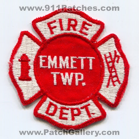 Emmett Township Fire Department Patch Michigan MI