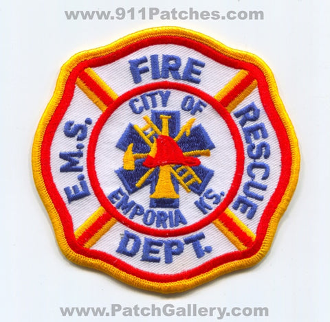 Emporia Fire Rescue EMS Department Patch Kansas KS