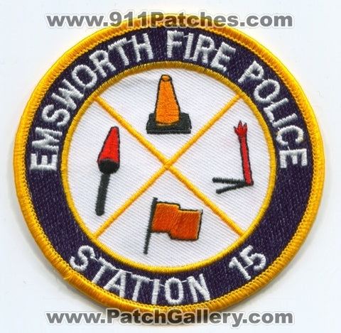 Emsworth Fire Police Department Station 15 Patch Pennsylvania PA