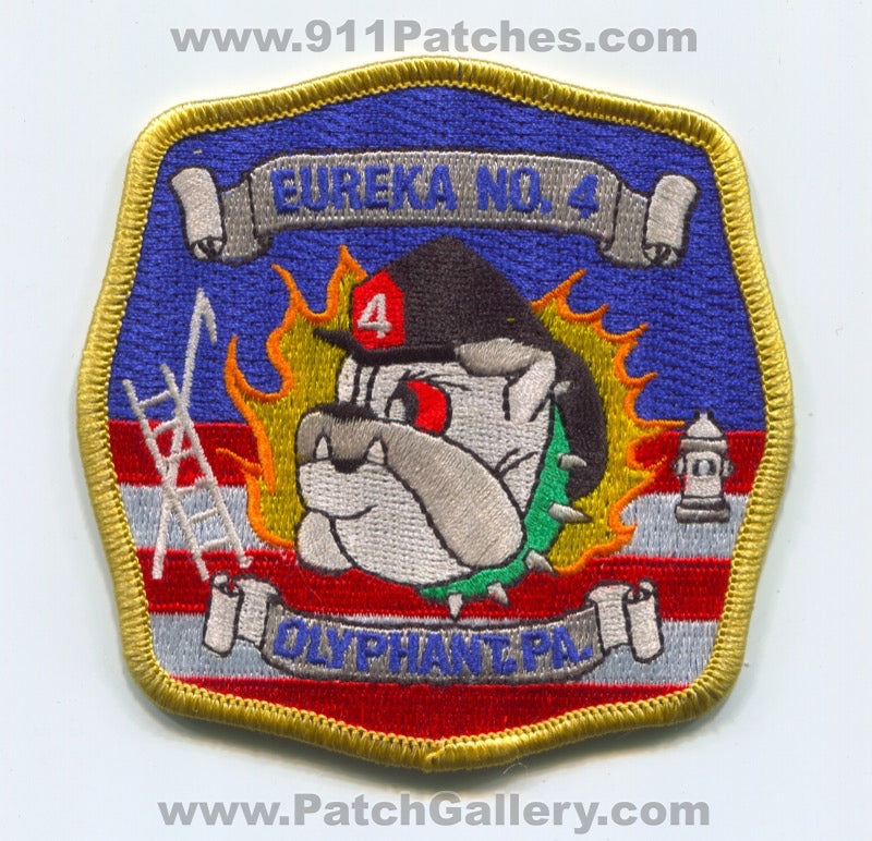 Eureka Hose Company Number 4 Fire Department Olyphant Patch Pennsylvania PA